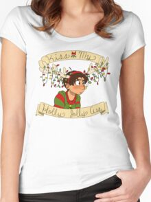 Kiss my Holly Jolly Ass Women's Fitted Scoop T-Shirt