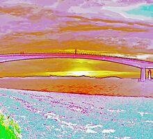 Skye Bridge In Pink by Ian Jeffrey