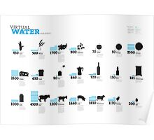 Virtual Water Footprint of Products Poster