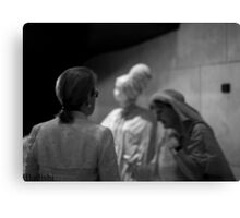 3 Women Figures, Black and White on 50mm Canvas Print