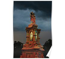 Stormy Tower in Red Poster