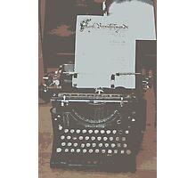 The Happy Writer Photographic Print