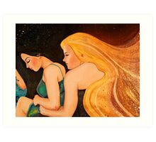 I Wish I Could Hold You MotherEarth Art Print