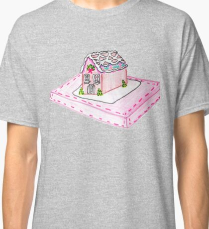 Pink Gingerbread House Classic T-Shirt