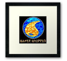 WATER WHIPPIN Framed Print