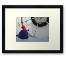 Nigel dreams of a way to steer the boat Framed Print