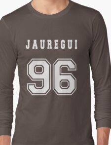 JAUREGUI - 96 // White Text Long Sleeve T-Shirt