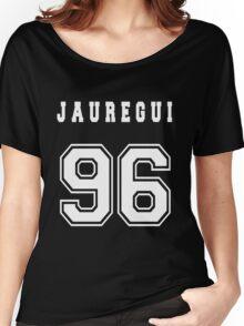 JAUREGUI - 96 // White Text Women's Relaxed Fit T-Shirt