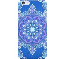 Ornate blue waves pattern iPhone Case/Skin