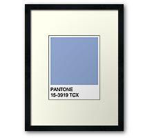 Pantone - Serenity Framed Print