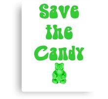 Save The Candy Gummy Bear Candy Crush Soda  Canvas Print