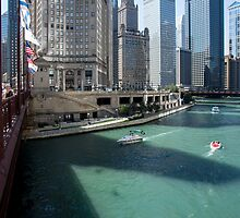 Chicago River from Michigan Ave. Chicago Ill. by Mike Koenig