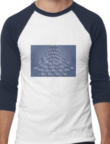 Blue Cubes Men's Baseball ¾ T-Shirt