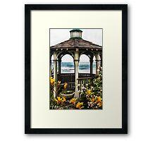 Ocean View Gazebo Framed Print