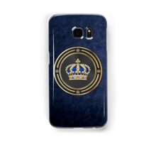 Royal Crown of France over Blue Velvet Samsung Galaxy Case/Skin