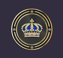 Royal Crown of France over Blue Velvet Unisex T-Shirt