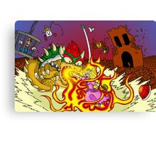 Conflagration in the Mushroom Kingdom Canvas Print