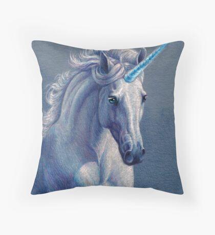 Jewel the Unicorn Throw Pillow