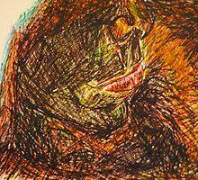 Drunken mouth in pen  by Katie  McNeice
