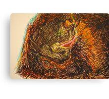 Drunken mouth in pen  Canvas Print