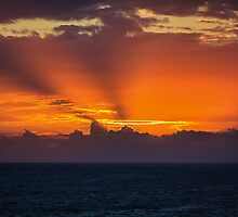 The Rays Breaking Over The Clouds by 75Central