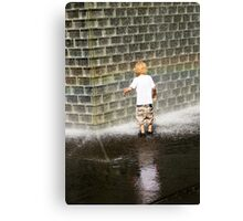 Fascination - Crown Fountain in Millennium Park. Chicago, Ill. Canvas Print