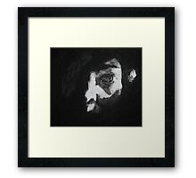 Facial Study with Torch  Framed Print