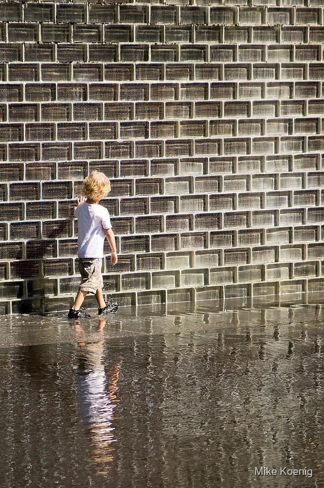 No Worries- Crown Fountain in Millennium Park. Chicago, Ill. by Mike Koenig