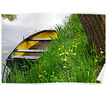 Waterside spring scene Poster