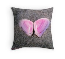 Pink Butterfly Made of Seashells  Throw Pillow