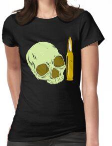 Skull 'n' bullet Womens Fitted T-Shirt