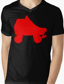 red rollerskate Mens V-Neck T-Shirt