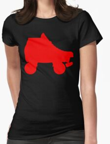 red rollerskate Womens Fitted T-Shirt