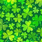 Green magic clovers pattern by 1enchik