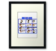 Doctor Who: 50 Years Through Time and Space Framed Print