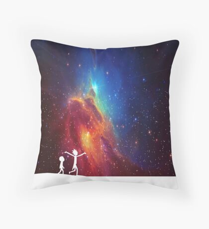 Rick and Morty - Star Viewing 2 Throw Pillow