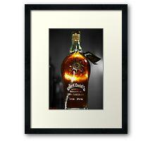 Jack Daniel's Star - Selective Color Framed Print