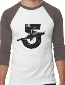 Babylon 5 Vintage (Black) Men's Baseball ¾ T-Shirt