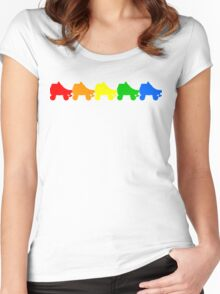 rainbow skates Women's Fitted Scoop T-Shirt