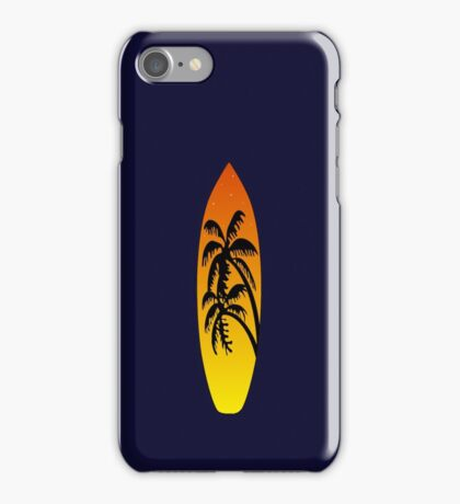 Surfboard Palm Trees (Sunset) iPhone Case/Skin
