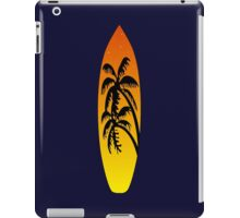 Surfboard Palm Trees (Sunset) iPad Case/Skin