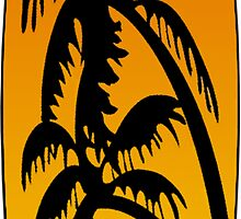 Surfboard Palm Trees (Sunset) by surreal77