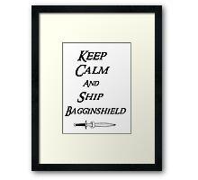 Keep calm and Ship Thilbo Framed Print
