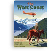 The West Coast  Fox Moth and Fox Glacier Canvas Print