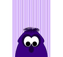 Silly Little Dark Purple Monster Photographic Print