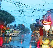 Fillmore in the Rain by David Denny