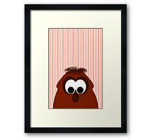 Silly Little Dark Red Monster Framed Print