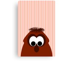 Silly Little Dark Red Monster Canvas Print