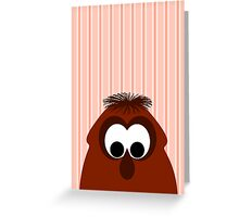 Silly Little Dark Red Monster Greeting Card