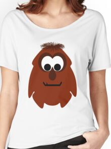 Silly Little Dark Red Monster Women's Relaxed Fit T-Shirt